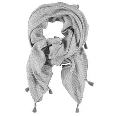 Scarf- De Ville ($30) ❤ liked on Polyvore featuring accessories, scarves, gray shawl, gray scarves, grey scarves and grey shawl