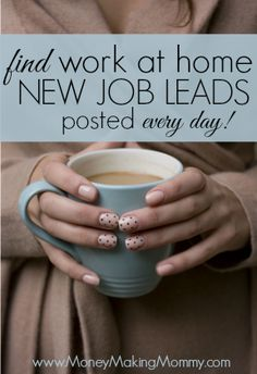 If working at home is something you're trying to do - you'll find great job leads at MoneyMakingMommy.com. New leads posted every day! #workathome