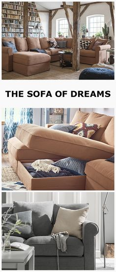 Take your living room to the next level with the GRONLID sofa. For extra style points, add cushions and throws from our Textiles range. Click the link in the bio to learn more. Ikea Sectional, Ikea Couch, Living Room Sofa, Living Room Furniture, Ikea Bank, Decorative Room Dividers, Couch And Loveseat, Comfy Sofa, Upholstered Furniture