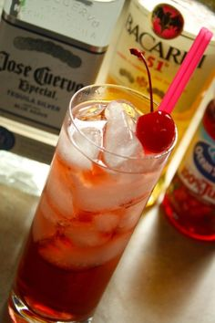Authentic Shut the Hell Up (.5oz Bacardi 151 .5oz Silver Tequila .5oz Southern Comfort Fill to the top with Cranberry Juice)