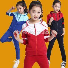V-TREE Niñas Sistemas de la Ropa de Capa de la Cremallera + pantalones  Traje de Deporte Para Adolescentes de Empalme Niñas Uniforme Escolar Niños  Chándal 10 ... e839baa3e4f04