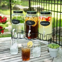 beverages Serve your favorite drinks in classic style with our Chalkboard Beverage Dispenser Set. Chalkboard labels make them the perfect balance of fashion and function. Wedding Catering, Wedding Reception, Dessert Wedding, Reception Food, Drink Dispenser, Evening Meals, Morning Food, Party Drinks, Bbq Party