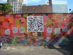 QR Code Mural in Cincinnati, Ohio on the side of the Know Theatre