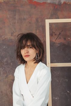 Image result for short hair with split bangs