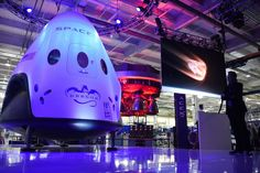 spacex dragon The Dragon V2 capsule, which SapceX hopes to use to transport astronauts to and from the International Space Station. (Robyn Beck/AFP/Getty Images)