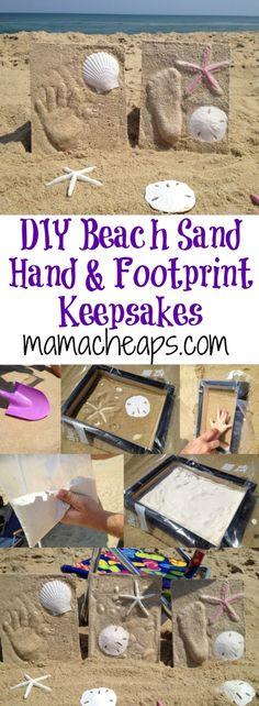 DIY Beach Sand Hand and Footprint Keepsakes