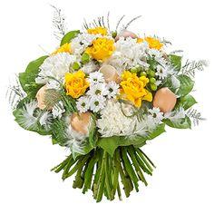 [ 🐤 DUVETINE 🐤 ] Pour fêter de Joyeuses #Pâques à vos proches, faites confiance à ce ravissant #bouquet. Joyeuses Pâques à tous. #BouquetRond #Fleurs