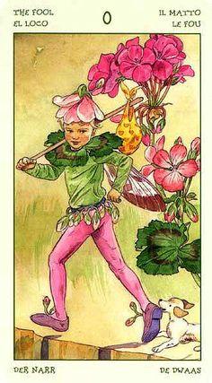 The Fool - Spirit of Flowers Tarot  I may need this deck. awakenpastlives.