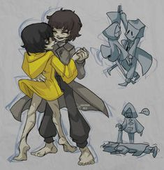 Tarsier Studios, Little Nightmares Fanart, Ship Drawing, Night Terror, Figure Drawing, Cute Drawings, Game Art, Anime Characters, Horror