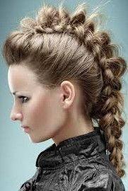 Mohawk Hairstyle, similar to the bun Mohawk below :)