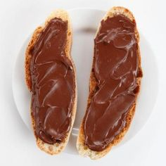 Nutella on Ciabatta by Saveur. Nutella, the hazelnut-chocolate spread, is perfect on ciabatta toast. It's a popular breakfast throughout Europe. Sweet Breakfast, Breakfast Recipes, Valentines Breakfast, Cold Sandwiches, Ciabatta, Chocolate Recipes, Nutella Recipes, Food Porn, Food And Drink
