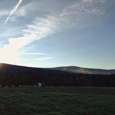 Sunrise this morning in the East Meadow #sunrise #vt #Vermont #soVT #greenmountains #landscape