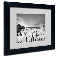 "Trademark Art ""Palimpsest"" by Geoffrey Ansel Agrons Matted Framed Photographic Print Size: 11"" H x 14"" W x 0.5"" D, Frame: Black"