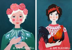 Powerful Women - Art and illustration by Amy Blackwell