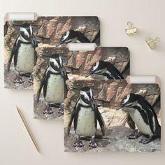 Cute Penguin Birds File Folder Set Custom Office Retirement #office #retirement