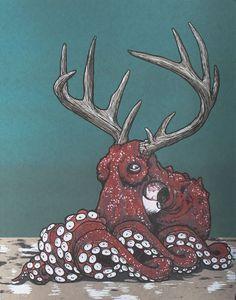 осьминоги арт: 24 тыс изображений найдено в Яндекс.Картинках