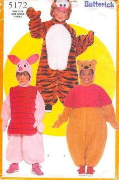 BUTTERICK 5172 - FROM 1997 - UNCUT - TODDLERS/CHILDRENS COSTUME