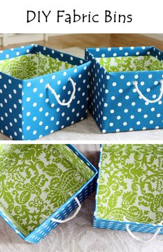 DIY Fabric Bins | Crafts and DIY Community