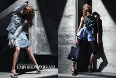 Anna Selezneva pour Emporio Armani Printemps campagne 2011 (Preview)