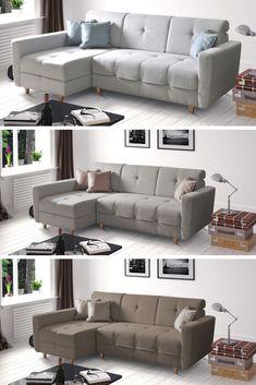 Získajte skutočný dizajnový klenot do vašej domácnosti v pohode sedačka 🧡HAKAN🧡.  Sedačka sa pýši funkciou rozkladu, vďaka čomu vykúzlite jedným ťahom lôžko s plochou na spanie 145x206 cm. Poteší vás aj úložný priestor. 😉 #sedacka #sedaciasuprava #obyvacka #domov Sofa, Couch, Furniture, Home Decor, Homemade Home Decor, Settee, Couches, Home Furnishings, Sofas