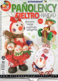 REVISTA PAÑO LENCY FIELTRO NAVIDAD 241 Book Crafts, Diy And Crafts, Craft Books, Christmas Decorations, Christmas Ornaments, Holiday Decor, Sewing Magazines, Yoshi, Maya