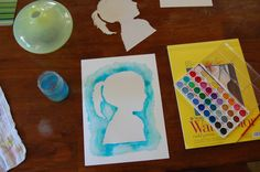 silhouette via watercolor Kids Silhouette, Silhouette Painting, Crafts For Kids, Arts And Crafts, Diy Crafts, Art Projects, Projects To Try, Five In A Row, Book Themes