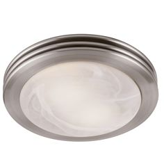 Utilitech 2-Sone 80-CFM Brushed Nickel Bathroom Fan with Light