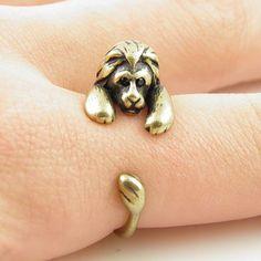Gold Lion Wrap Hug Ring   | KejaJewelry - Jewelry on ArtFire