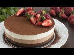 No-Bake Triple Chocolate Mousse Cake Recipe - YouTube