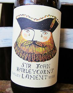 Beer label designed by Paul Bommer, sailor, pirate, summer, drawing, packaging, bottle, lettering, nautical, illustration, colour