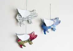 Pointless Pretty Things: DIY Flying Pig Mobile