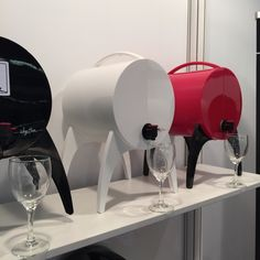 """Ronique Gibson: The perfect answer to 'wine in the box' convenience for your next barbecue or party. """"Winy Bar"""" by Jean-Robert Bonneil is a fashionable solution for entertaining."""