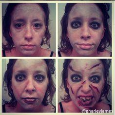 Reagan, The Exorcist #facepaint #bodyart #makeupbymarley #theexorcist