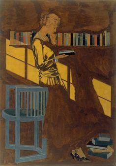 huariqueje:  Lady reading  -  Coles PhillipsAmerican 1880-1927