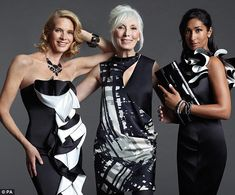 """Fashion for """"the forgotten woman"""" (from L to R) 52, 66, 41"""