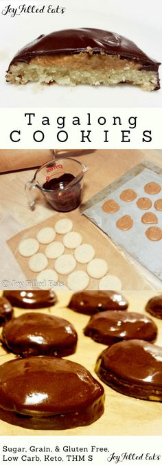 Tagalong Cookies - Low Carb, Grain-Free, Gluten-Free. Keto, Sugar-Free, THM S - My Tagalong Cookies are just as good as the originals. You can enjoy this treat without any guilt!