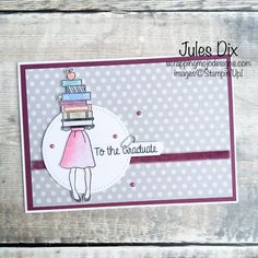 Scrapping Mojo Designs: Graduate Card with the Hand Delivered Stamp Set from Stampin' Up!