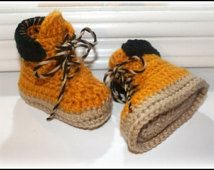 crochet baby work boots construction worker boots timberland boots baby shower gift