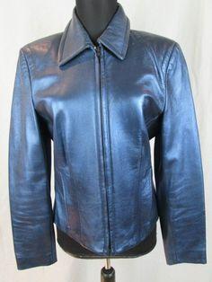 Blue Image Leather Butter Soft Jacket Women's Coat Size 8 #ImageLeather #BasicJacket