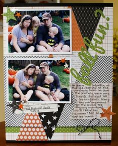 Pebbles Inc: Fall Scrapbook Layout {Thirty-One} #Fall #Scrapbooking