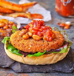 Veggie Burgers on Pinterest | Portobello Mushroom Burger, Bean Burger ...