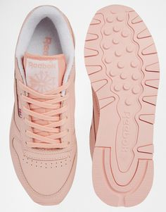 Image 3 of Reebok CL Coral Leather Sneakers