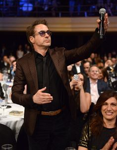 Robert Downey Jr. at Howard Stern's birthday bash presented by Sirius XM and held at the Hammerstein Ballroom in New York City, NY (January 31, 2014)