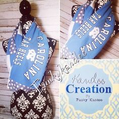 Carolina Tarheel Vintage Tee Infinity Scarf by Funky Kandoo. Visit us on Facebook or Instagram for more unique gift ideas.