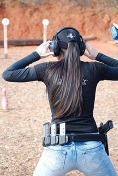 Girls and three gun