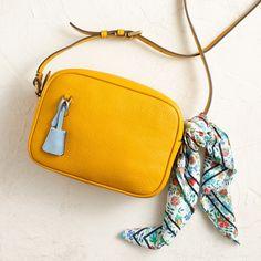 J.Crew Looks We Love: women's Signet bag in Italian leather and bandana in Liberty® Edenham floral.