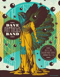 Dave Matthews Band Date: Venue: Blossom Music Center City: Cuyahoga Falls State: OH Dave Matthews Band Posters, Blossom Music Center, 80 Bands, Cuyahoga Falls, Tour Posters, Him Band, Concert Posters, Album Covers, Rock And Roll