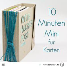 Minialbum Bastelanleitung für Karten von Mel für www.danipeuss.de Scrapbooking Stempeln Mixed Media Kartenbasteln Filofaxing
