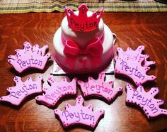 Special Decorated 2 Tier Prince/Princess Dog Cake & Matching Treats