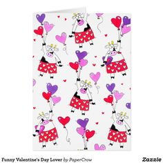 Funny Valentine's Day Lover Customizable Greeting Card and More Gift Wrap and Party Supplies at Zazzle > https://www.zazzle.com/papercrow/gifts?cg=196383840643385907  #GreetingCards #ValentinesDay #Funny #Cows #Romantic #Love #Zazzle
